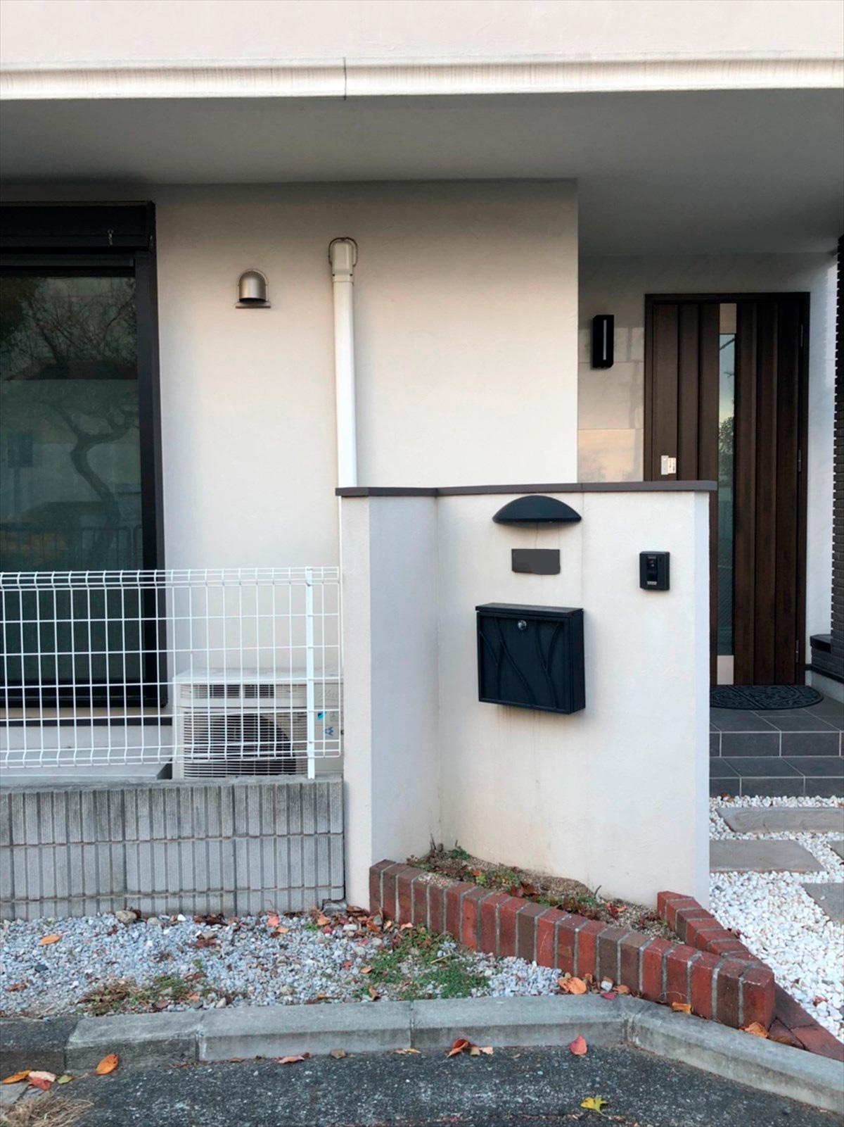 リノベーション前の表札や壁|横浜リノベーション