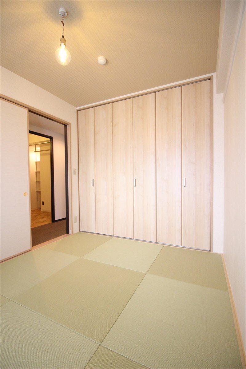 和室の布団収納は和モダンクローゼット|リノベーション横浜