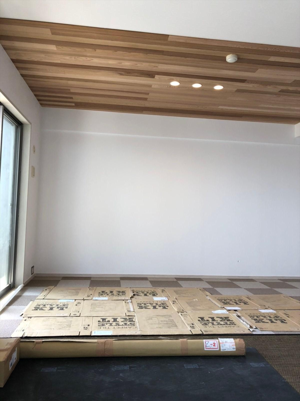 板張り天井のリビング リノベーション横浜