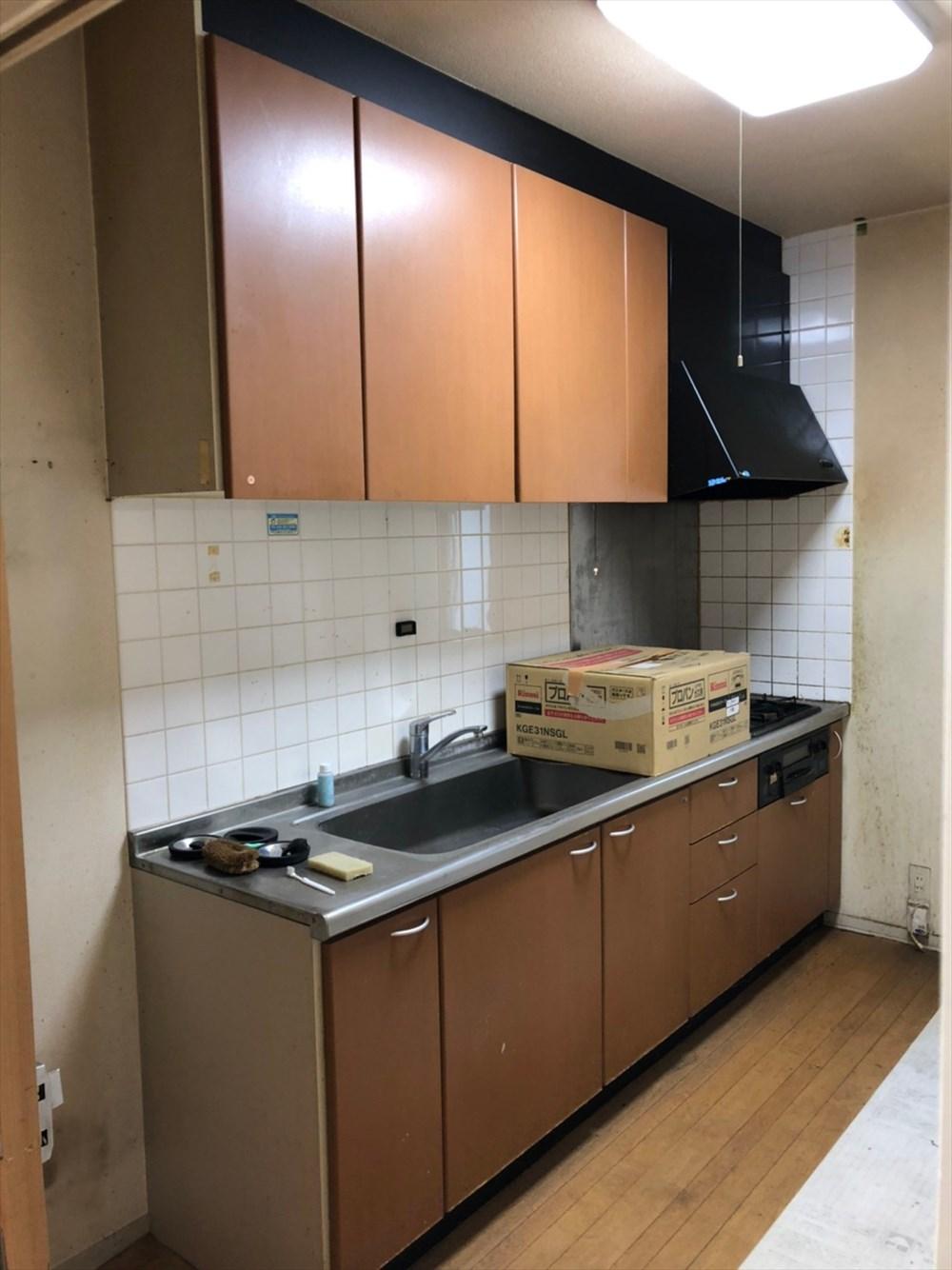 平屋のリノベーション前のキッチン|リノベーション横浜